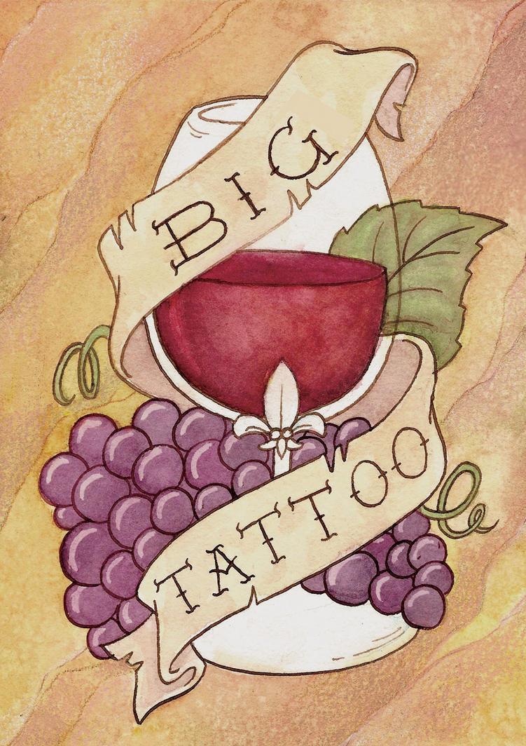 big tattoo wine label by lauradollie on deviantart. Black Bedroom Furniture Sets. Home Design Ideas