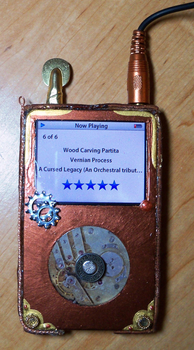 Final iCog - Steampunk iPod by DarkPhoenixBC