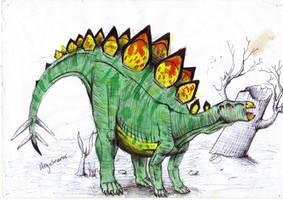 stegosaurus by ebelesaurus