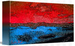 Picture 2015060 Justin Beck Icy Sunset canvas