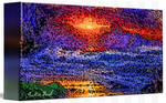 Picture 2015061 Justin Beck wave sunset canvas