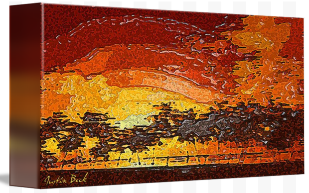 Picture 2015062 Justin Beck Warm Sunset canvas