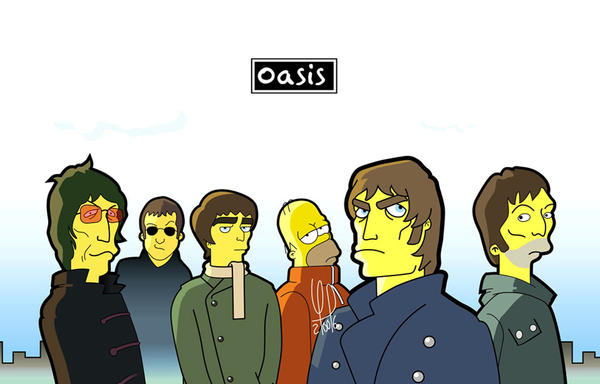 Oasis Simpsons by perxion on DeviantArt Oasis Band Wallpaper
