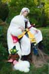 Lord Sesshomaru and Jaken