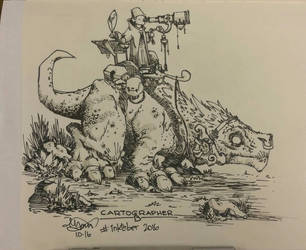 inktober 2016 day 4 cartographer b by rohwer
