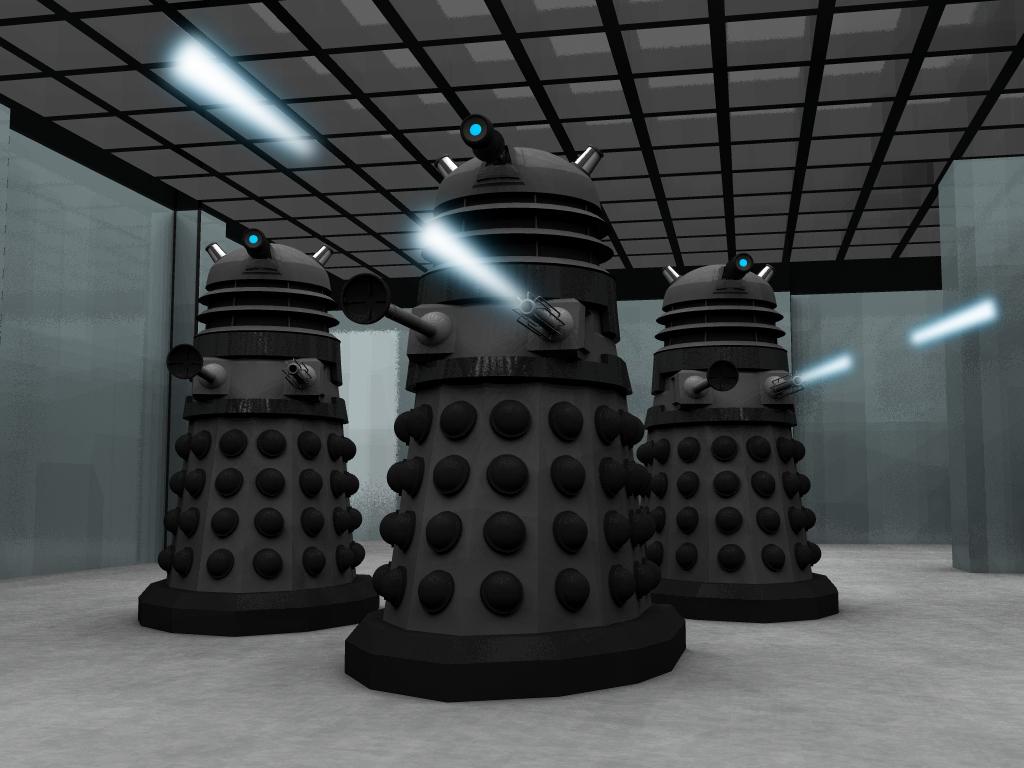 Dalek Attack by manofallart