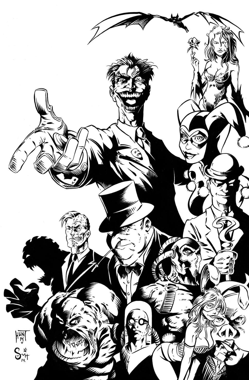Batman: Rogues Gallery Pencils - Hunt / Smith by Travinapple