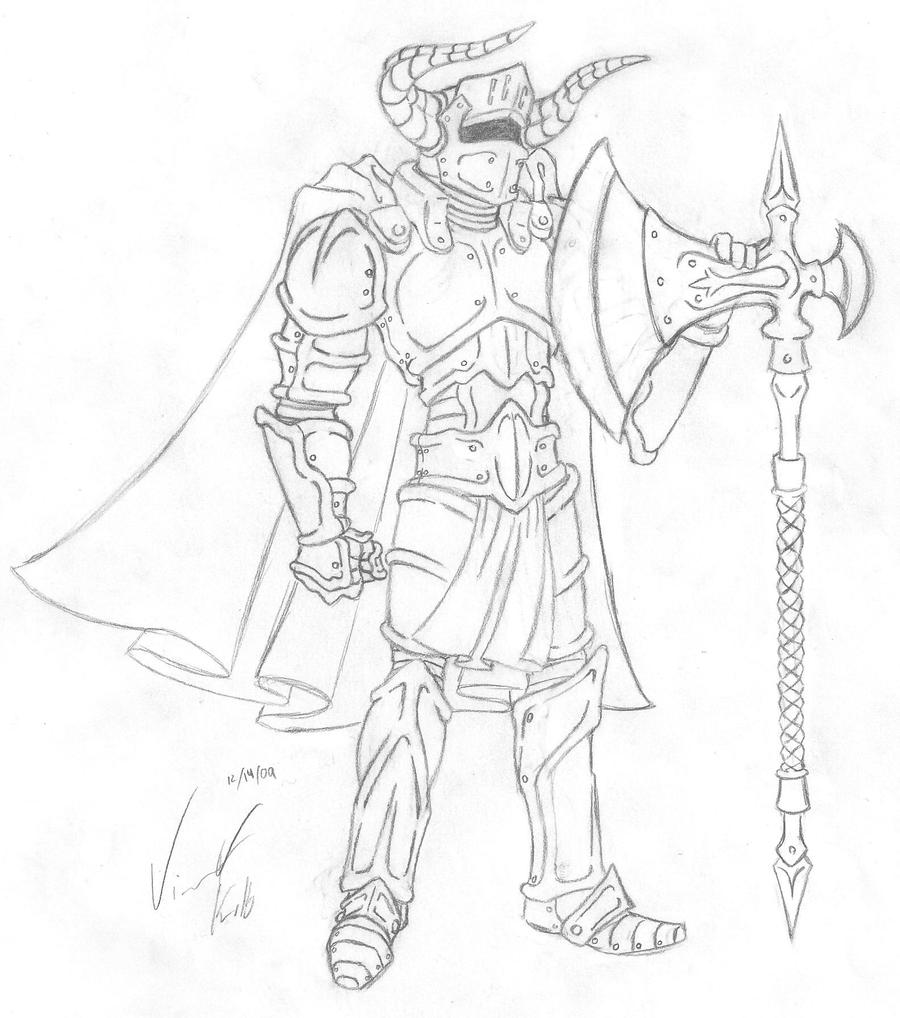 Raemor Knight :Line Art: by VHCrow
