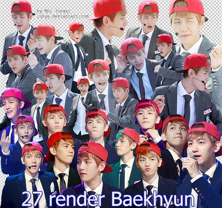 EXO Baekhyun Render Pack by Luhye