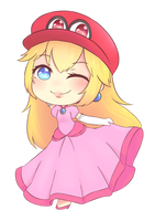 [COMMISSION] PRINCESS PEACH WITHOUT MUSTACHE VER by miya-tikachan1998