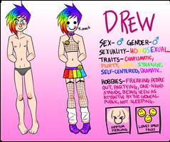 Drew Character Ref by lesbian-mermaid