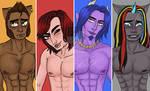 Monster High lineup by lesbian-mermaid