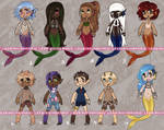 (REDUCED!!) MERMAID/SATYR ADOPTS: OPEN