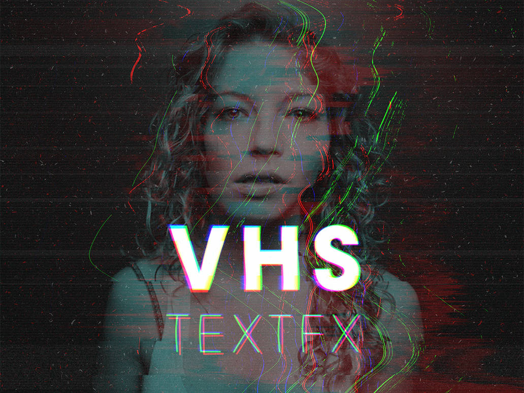 VHS RGB Glitch Text Effect Text Effects Actions GRAPHIC