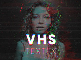 VHS - RGB Glitch Text Effect by Devotchkah