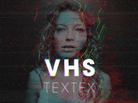 VHS - RGB Glitch Text Effect by Devotchkah