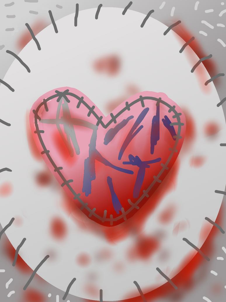 Teddy Bear Broken Heart by kotakotoka