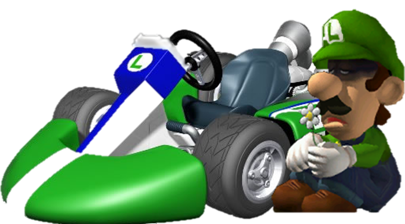 Depressed luigi in mario kart wii by fnatirfanmario on for Coupe miroir mario kart wii