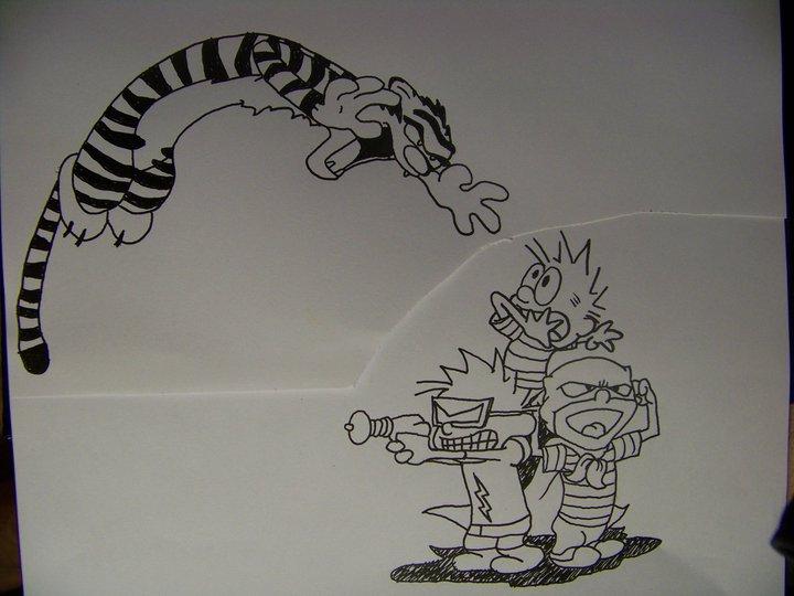 calvin n hobbes tattoo design by gtprisoner8811 on deviantart. Black Bedroom Furniture Sets. Home Design Ideas