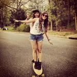 Me And Makayla LongBoarding I Think :P
