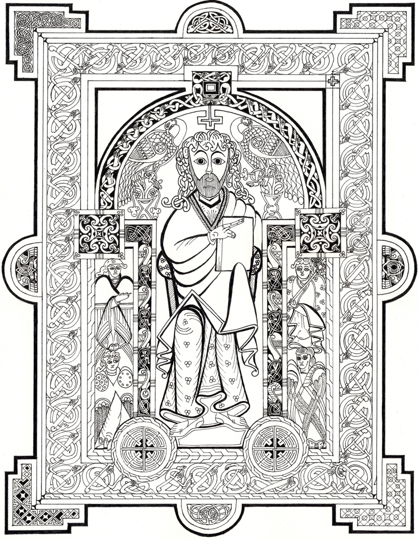 book of kells coloring pages - photo#7