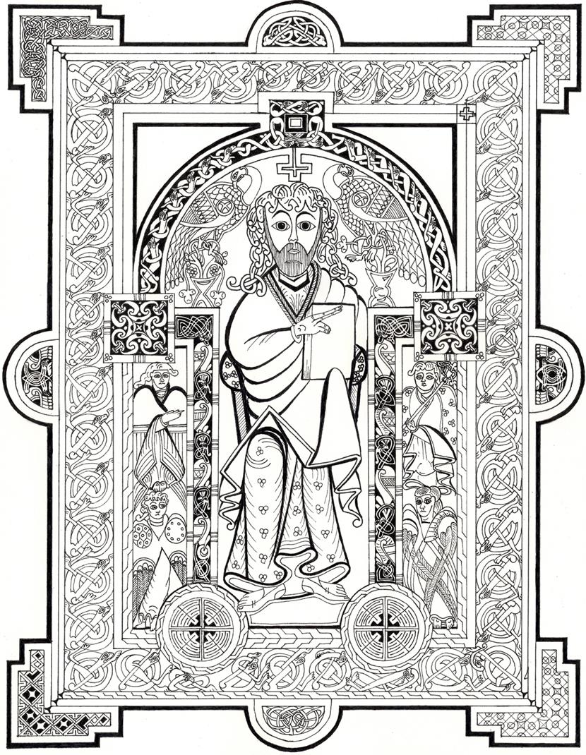 book of kells coloring pages jesus 1 book of kells by phoenix51200 on deviantart