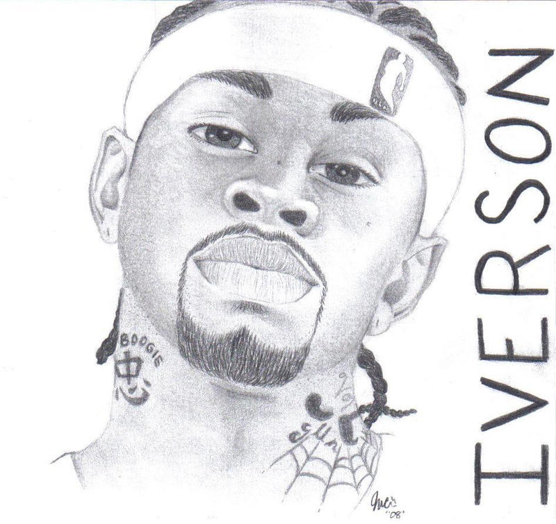 coloring pages of allen iverson - photo#9