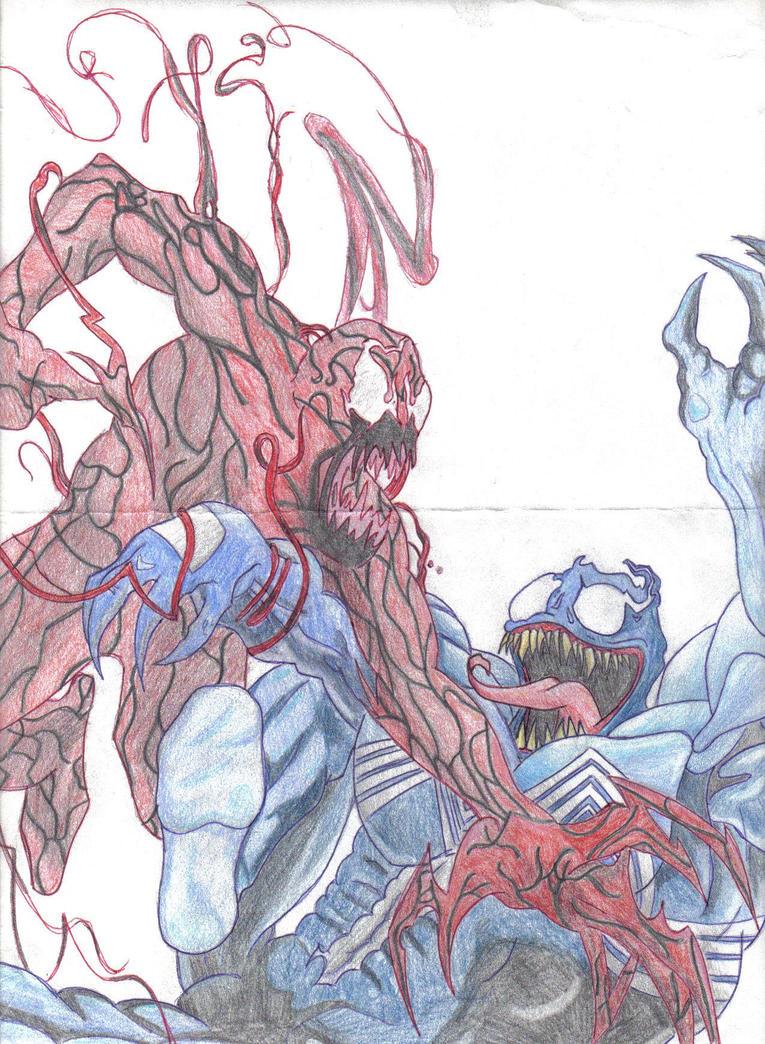 Spiderman vs carnage drawings - photo#15