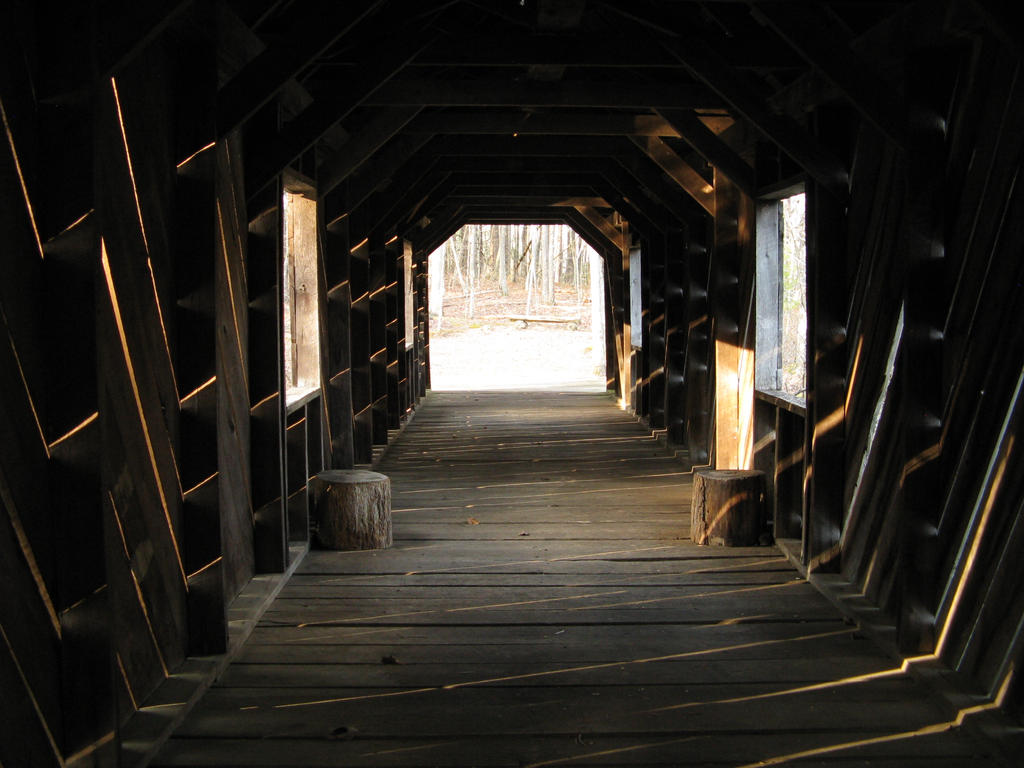 .:covered bridge:. by beatrix666