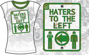 HATERS TO THE LEFT by HUMPHREYSIR