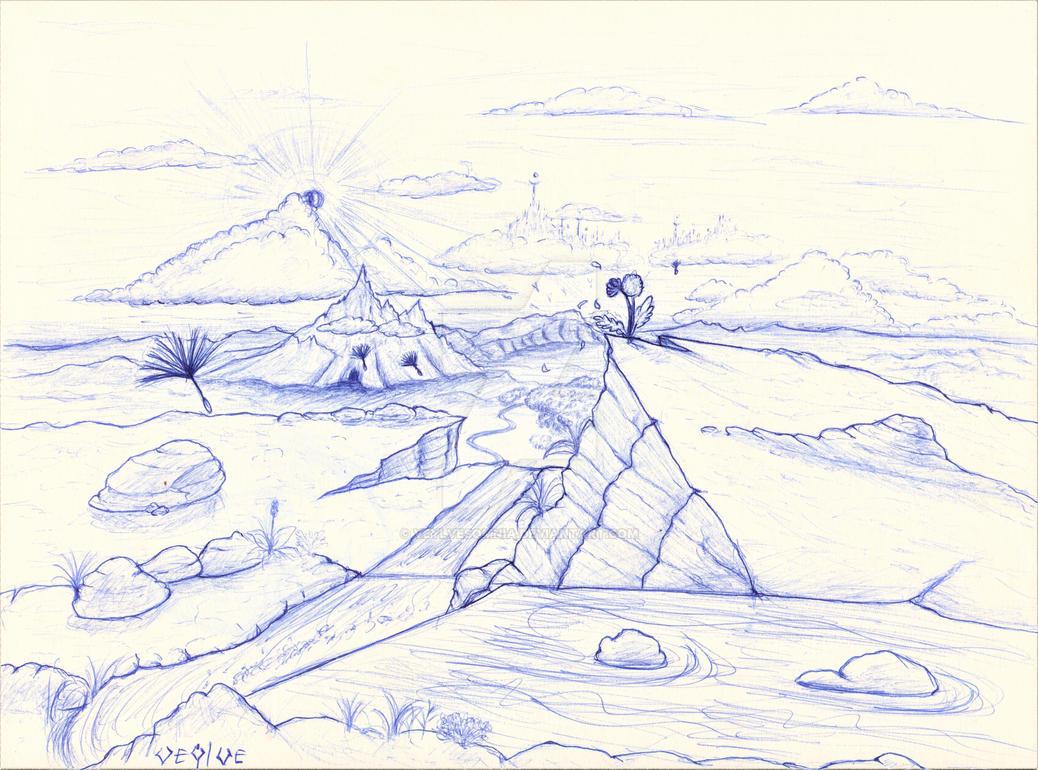 imaginary landscape by Veylve
