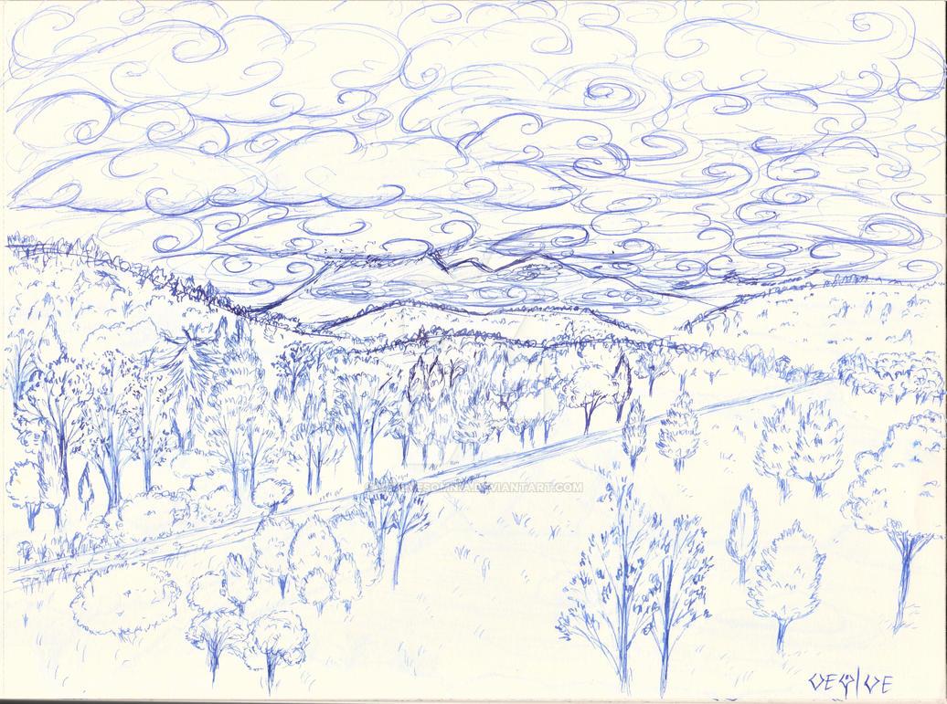 misty mountains by Veylve
