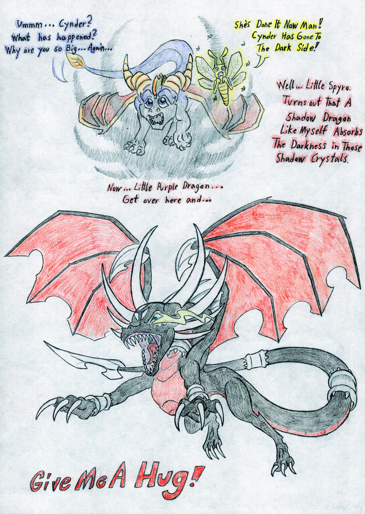 Cynder\'s shadow growth. 4. (Color) by Grimmyweirdy on DeviantArt