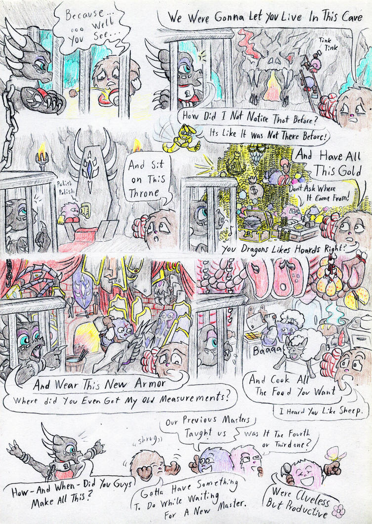 Cynder and the Pugglies, comic page 11. by Grimmyweirdy