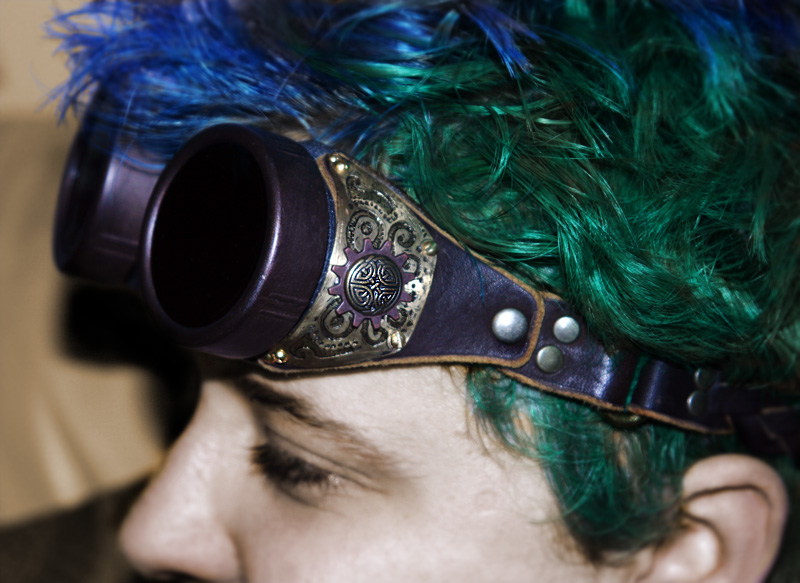 Steampunk Goggles Celtic Rnd by ThePromethean