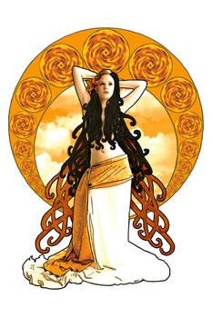 Art Nouveau Goddess of the Sun