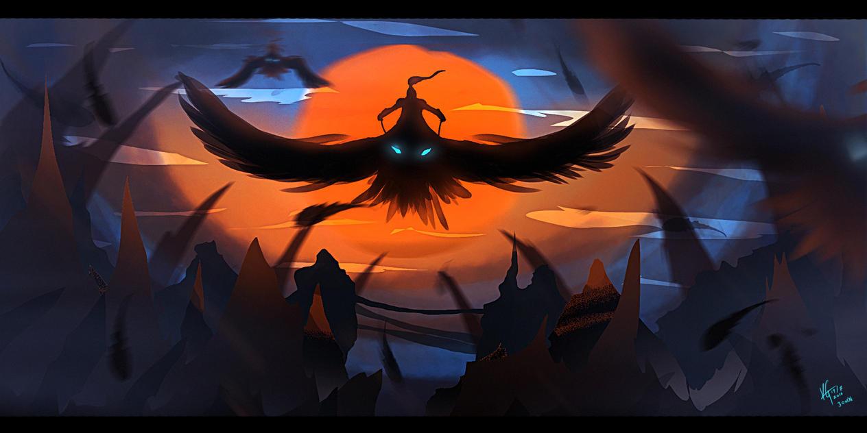 Bird Rider by KxG-WitcheR