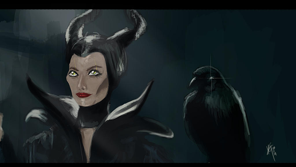A Maleficent study by KxG-WitcheR