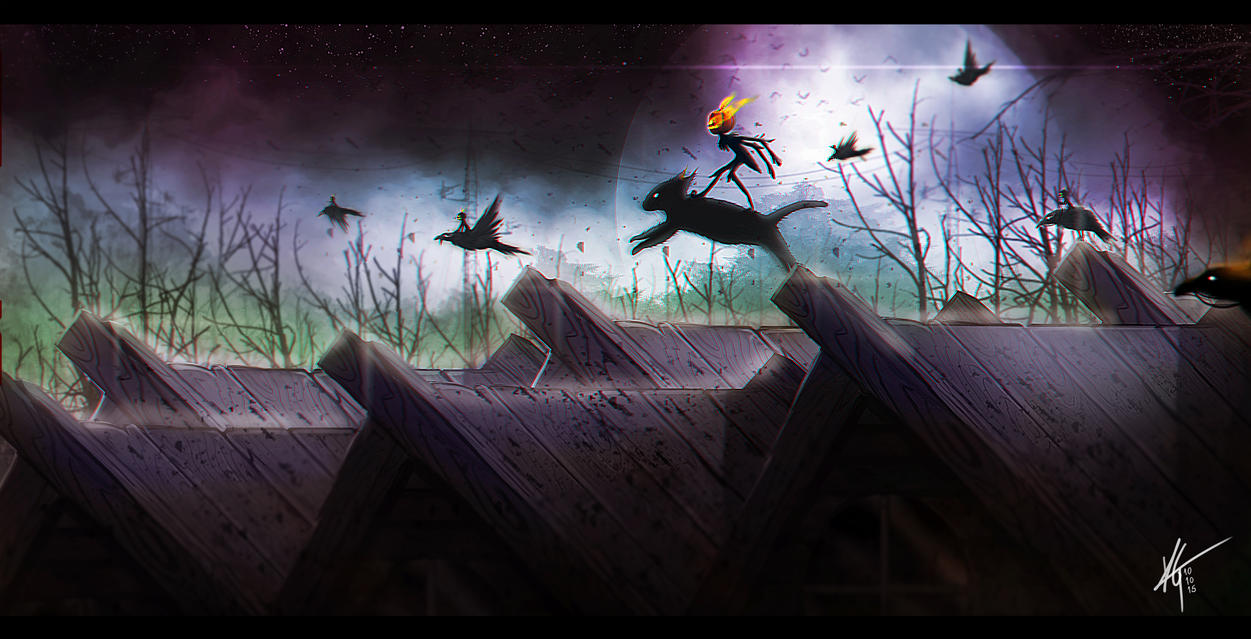 The Flight On Hallow's Eve by KxG-WitcheR