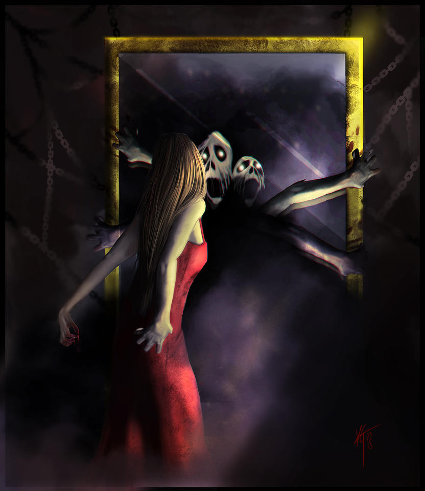 A Scream to Express (In Cold Mirrors) by KxG-WitcheR