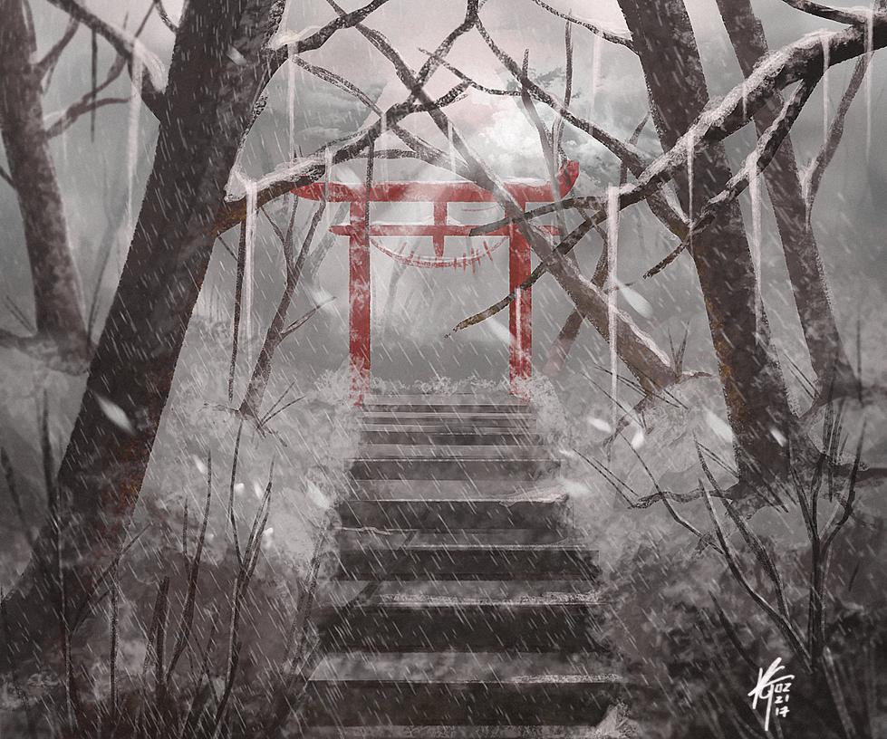 Torii Gateway [Winter] by KxG-WitcheR