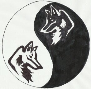 Yin Yang Wolves by DaneLunar on DeviantArt