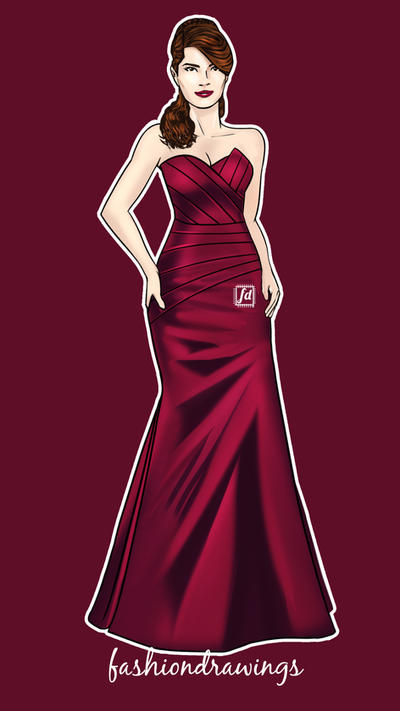 Redcocktail By Fashiondrawings by fashiondrawings