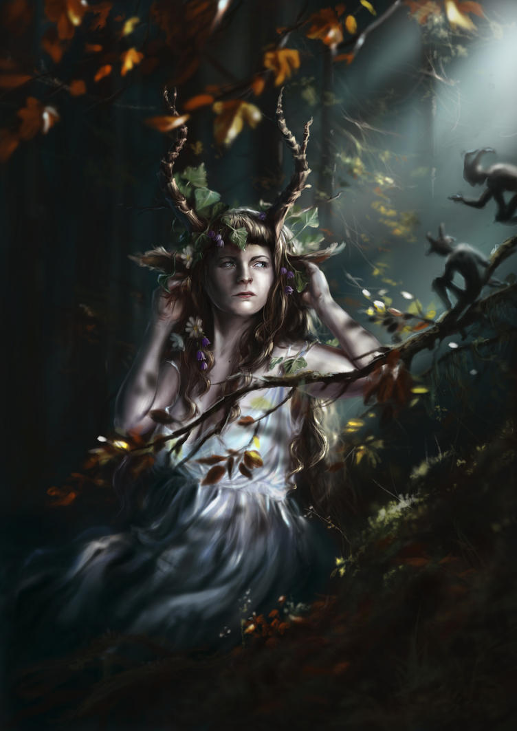 The Lady Faun by Morgainelefee on DeviantArt