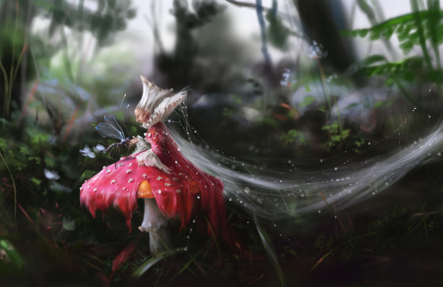 Faerie Amanita by Morgainelefee