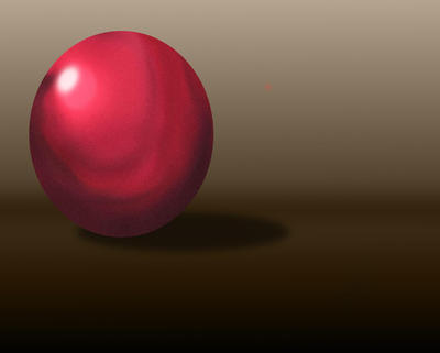 Red ball by ISnowHeartI