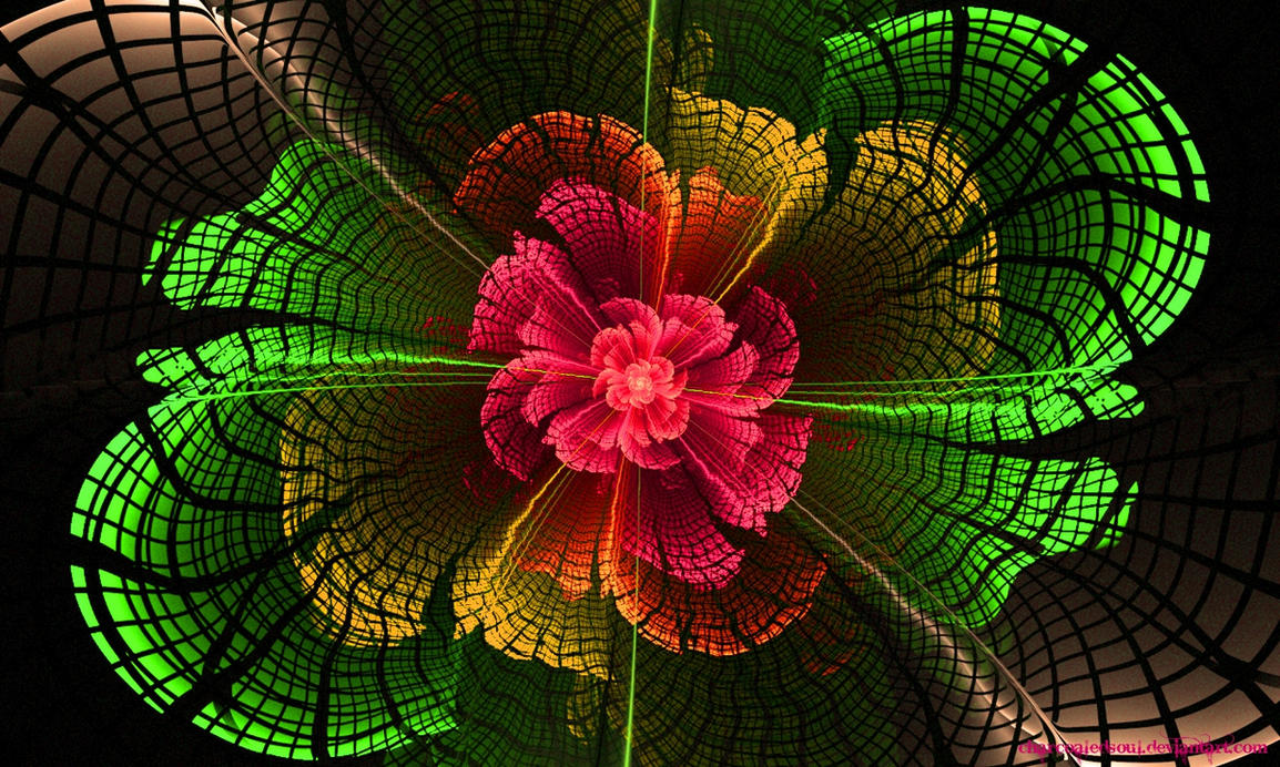 Matrix Flower by charcoaledsoul