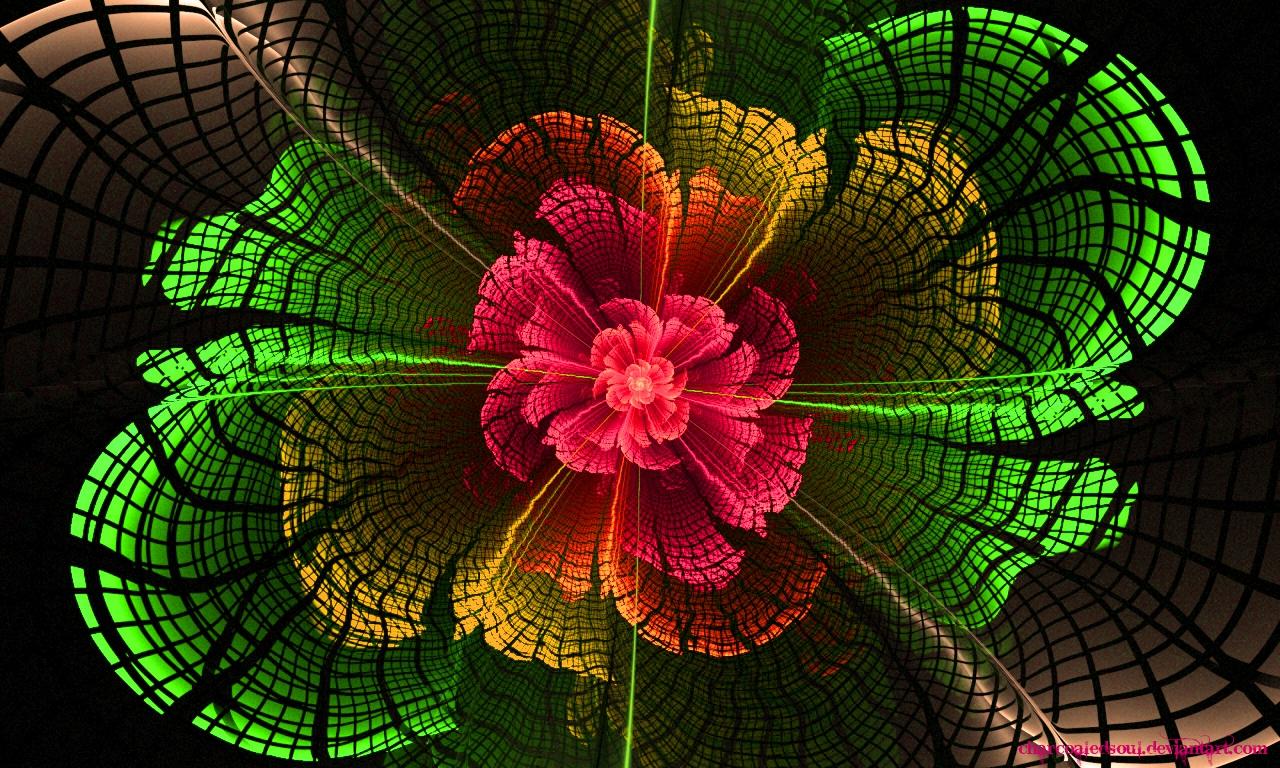 Matrix Flower by charcoaledsoul