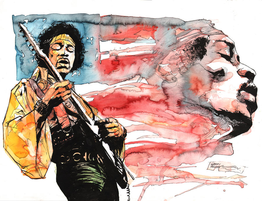 Jimi Hendrix by thisismyboomstick