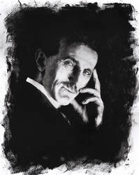 Nikola Tesla by thisismyboomstick